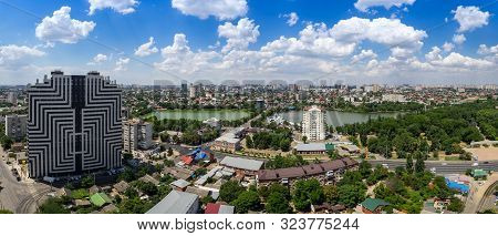Krasnodar, Russia July 7, 2019: Residential Complex Krasnodar And View Of The Central District Of Th