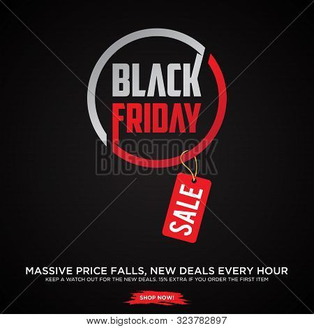 Black Friday Sale Banner. Black Friday Sale Banner Vector Design Template For Website, Ad. Origami B
