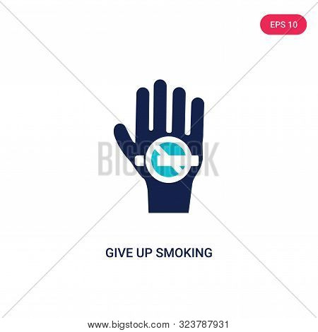 give up smoking icon in two color design style. give up smoking vector icon modern and trendy flat symbol for web site, mobile, app, logo, UI. give up smoking colorful isolated icon on white background. give up smoking icon simple vector