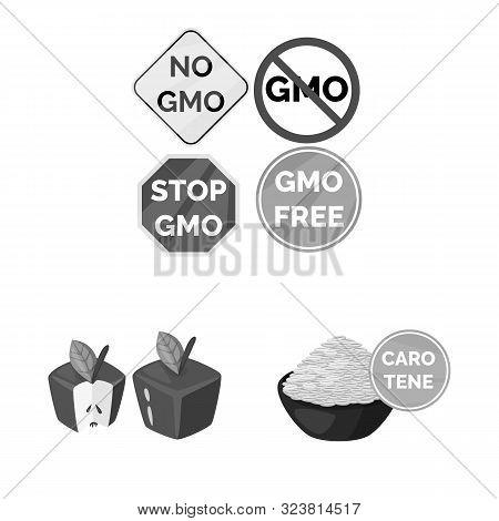 Vector Design Of Transgenic And Organic Symbol. Set Of Transgenic And Synthetic Stock Vector Illustr