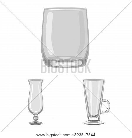 Isolated Object Of Capacity And Glassware Icon. Set Of Capacity And Restaurant Stock Symbol For Web.