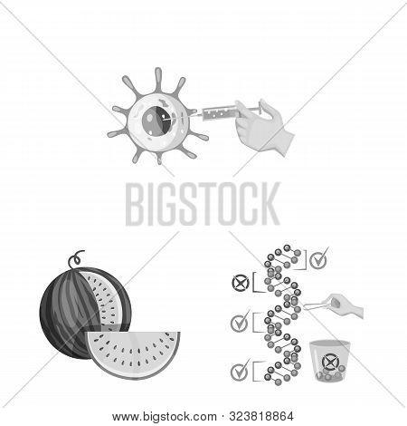 Vector Design Of Transgenic And Organic Symbol. Collection Of Transgenic And Synthetic Vector Icon F