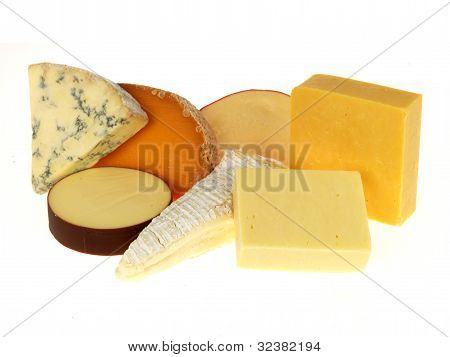 Selection of Mixed Assorted Cheeses