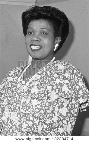 LONDON - DECEMBER 12: Lurline Champagnie, Conservative party Parliamentary Candidate for Islington North, attends a photo call on December 12, 1990 in London. She was later Mayor of Harrow.
