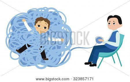 A Man Tangled In Problems Visited A Psychologist. Solving Psychological Problems With A Psychologist