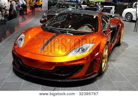 GENEVA - MARCH 12: Mansory McLaren MP4-12C on display at 82nd International Motor Show on March 12, 2012 in Geneva, Switzerland