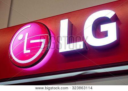 Minsk, Belarus - September 20, 2019: Lg Logo. South Korean Multinational Electronics Company, Lg Ele