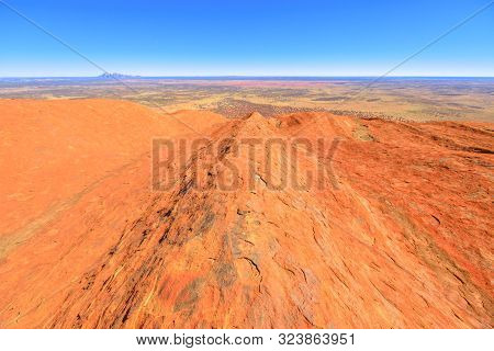 Uluru, Northern Territory, Australia - Aug 23, 2019: View From The Top Of Uluru-kata Tjuta National