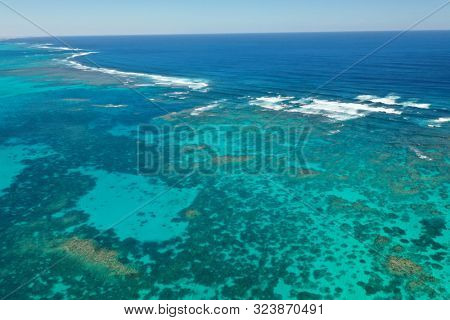 Aerial photo of Great Barrier Reef