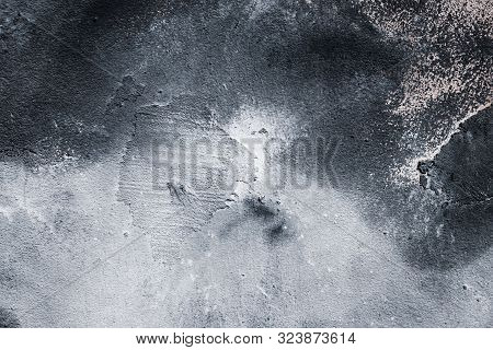Urban Abstract Dirty Background. Grunge Floor. Black Stone Backgrounds. Old Cement Wall Pattern. Whi