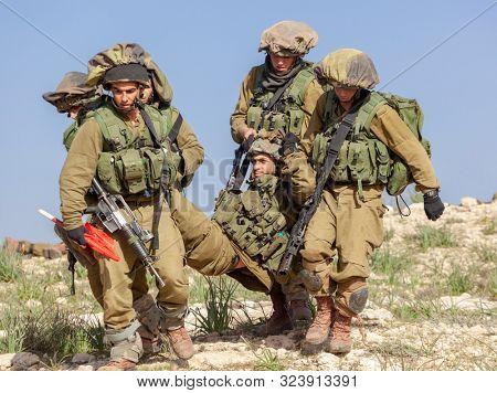 Israeli Soldiers Training, IDF -  Israeli army military combat training, June, 2018, Israel