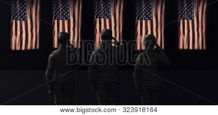 American National Holiday. Us Flag Background With American Stars, Stripes And National Colors. Sold