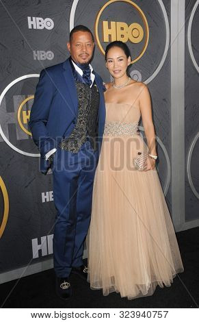 Terence Howard and Mira Howard at the HBO's Official 2019 Emmy After Party held at the Pacific Design Center in West Hollywood, USA on September 22, 2019.
