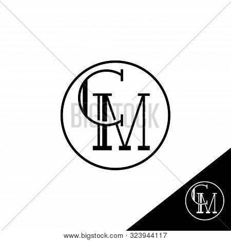 Creative Modern Elegant Trendy Unique Artistic Cm Initial Based Letter Icon Logo, Cm Letter Vector L