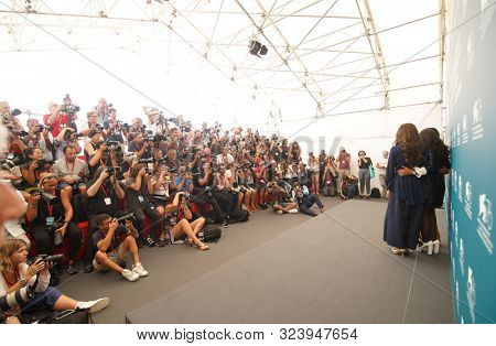Photographers at the 76 Venice International Film Festival 2019. The Perfect Candidate photocall. Venice (Italy), August 29th, 2019