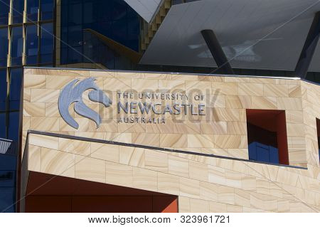Newcastle, Nsw, Australia-september 7, 2019: The University Of Newcastle City Campus Called Newscape