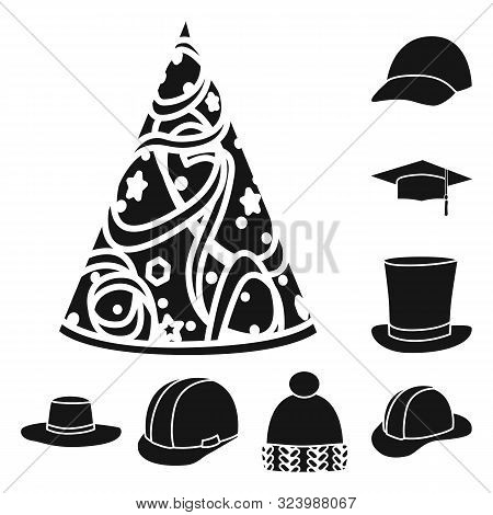 Vector Design Of Beanie And Beret Symbol. Collection Of Beanie And Napper Stock Vector Illustration.
