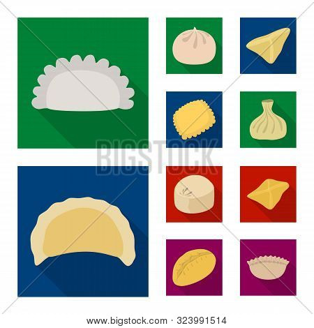 Vector Illustration Of Products And Cooking Logo. Collection Of Products And Appetizer Vector Icon F