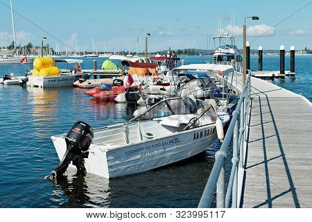 Lake Macquarie, Australia - April 18, 2013: Chase Boats Assembled At The Belmont 16ft. Sailing Club