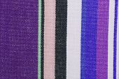 close up of the striped fabric texture poster