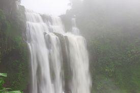 Tad Yuang Waterfall In Laos's Champasak Province , Laos