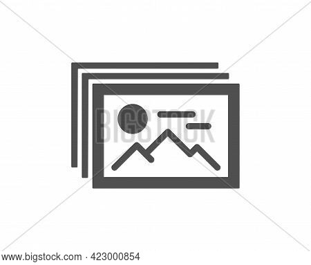 Image Gallery Simple Icon. Photo Thumbnail Sign. Album Picture Placeholder Symbol. Classic Flat Styl