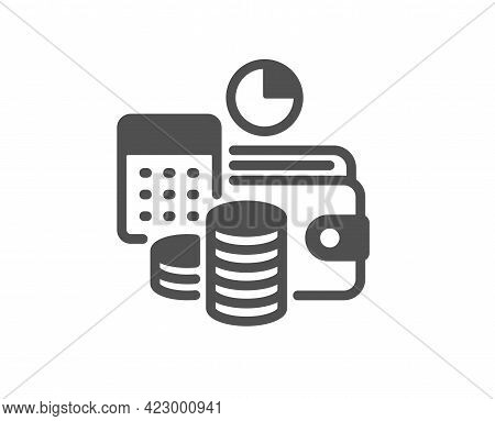 Budget Accounting Simple Icon. Finance Management Sign. Business Economy Symbol. Classic Flat Style.