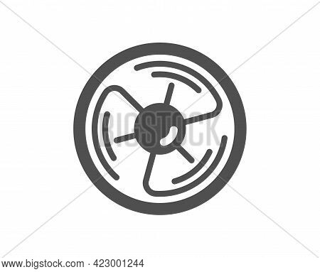 Air Fan Simple Icon. Wind Turbine Energy Sign. Ventilation Rotor Symbol. Classic Flat Style. Quality