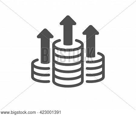 Budget Simple Icon. Money Gain Sign. Cash Coin Profit Symbol. Classic Flat Style. Quality Design Ele