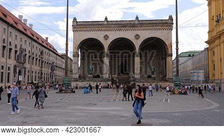 Odeon Square In Munich - City Of Munich, Germany - June 03, 2021