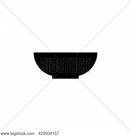Plate Or Bowl Solid Black Icon. Soup. Ceramic Bowl. Lunch Concept. Trendy Flat Isolated Symbol Sign