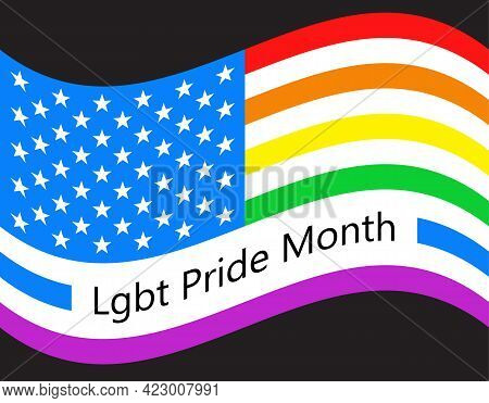 Lgbt Pride Month Concept Vector Fot Poster, Card, Banner. Social Event In June