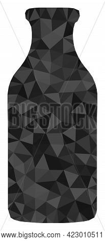 Low-poly Bottle Designed With Scattered Filled Triangles. Triangle Bottle Polygonal Icon Illustratio