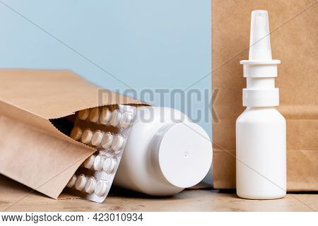 Online Pharmacy Order And Medications Delivery. Health And Medical