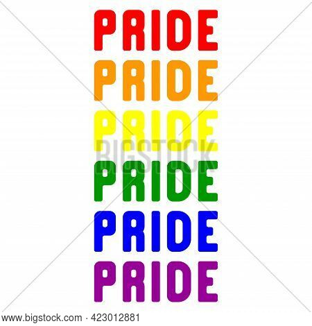 Happy Pride Month Banner. Pride Day Lgbtq Design. Human Rights And Tolerance. Poster, Card, Banner A