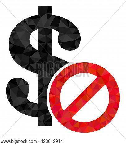 Low-poly Forbidden Dollar Combined With Random Filled Triangles. Triangle Forbidden Dollar Polygonal