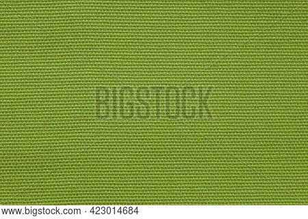 Background Image - Textured Natural Coarse Green Fabric.