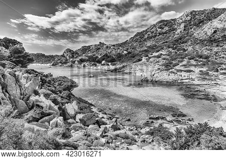 Scenic View Over The Picturesque Cala Corsara In The Island Of Spargi, One Of The Highlights Of The