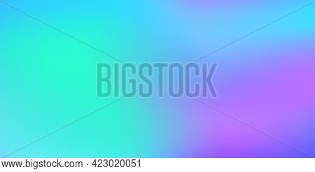 Abstract Blurred Gradient Background. Colorful Smooth Banner Template. Design For Landing Pages. Vec