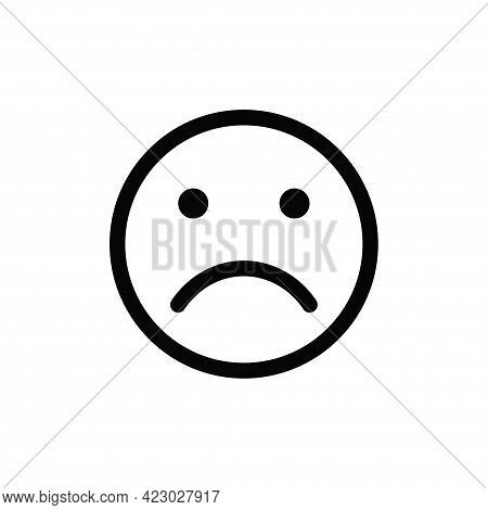 Sad Icon Isolated On White Background. Sad Icon In Trendy Design Style For Web Site And Mobile App.