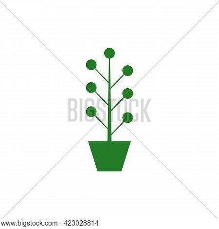 Illustration Vector Design Graphic Of Plant Logo