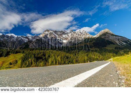 Autumn Austrian Alps nearby Bischofshofen
