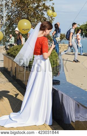 Kerch Russia - September 9 2020 - Festival Of Brides, A Holiday Of All Brides And Wedding Dresses. A