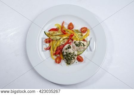 chicken with vegetables and peppers