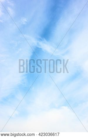 Sky with light white clouds - natural background