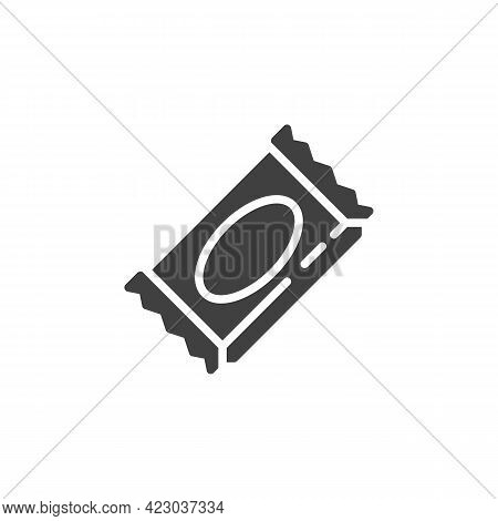 Wrapped Candy Vector Icon. Filled Flat Sign For Mobile Concept And Web Design. Caramel Candy Glyph I