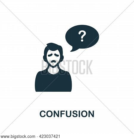Confusion Icon. Monochrome Simple Element From Coronavirus Symptoms Collection. Creative Confusion I