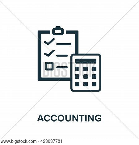 Accounting Icon. Monochrome Simple Element From Digital Service Collection. Creative Accounting Icon