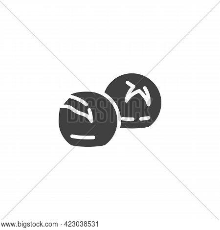 Bun Bread Vector Icon. Filled Flat Sign For Mobile Concept And Web Design. Brioche Bread Glyph Icon.