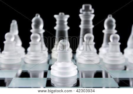 Glass Chess Pawn